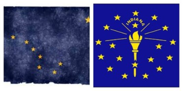 alaska indiana flags
