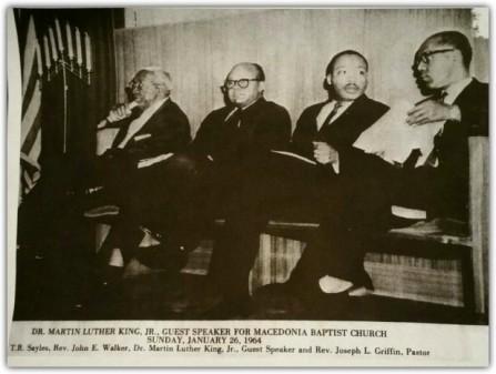 Rev John Walker and Dr. Martin Luther King