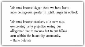 Haile Selassie Quote