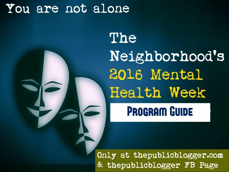 2016 Mental Health Week Program Guide