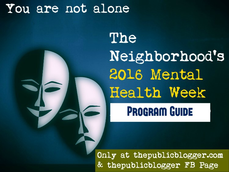 2016 Mental Health Week Program Guide