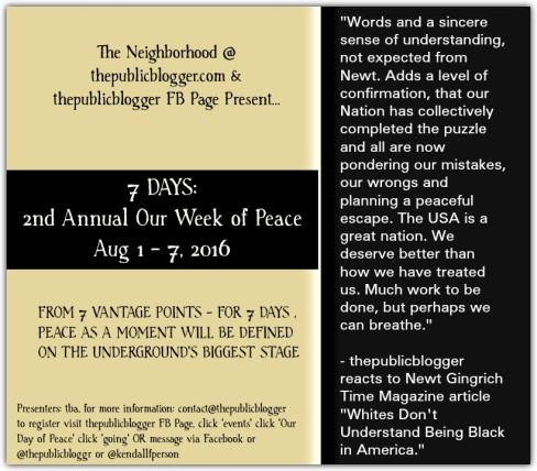 Peace Week 2016