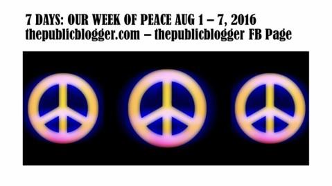 #ourweekofpeace