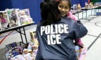 Ice Hugs Hispanic Girl